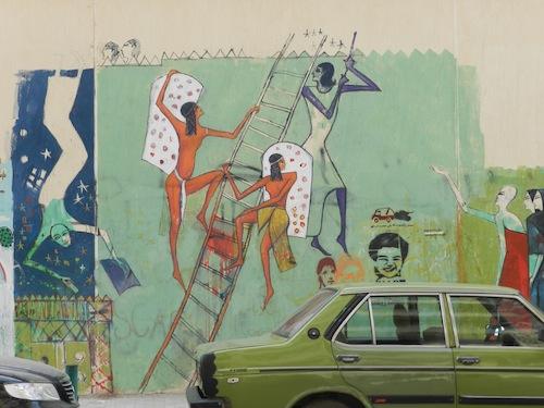 Le mur de la rue Mohammad Mahmoud (21 février 2012)